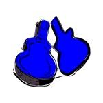 blue acoustic guitar case