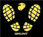USMC GRUNT FOOTPRINTS T-Shirts & Gifts