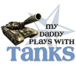 My Daddy plays with Tanks blue