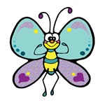 Strong Butterfly T-shirts and Gifts