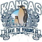 Save the Penguins Kansas T-Shirts and Gifts