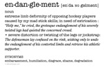 Endanglement: hockey definition