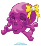 Kawaii Purple Skull