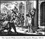 Apostle Philip stoned
