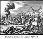 Barnabas burned on Cyprus
