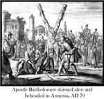 Apostle Bartholomew flayed