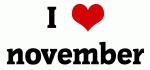 I Love november