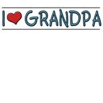 I LOVE (HEART) GRANDPA