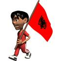 Cute 3D Albania Flag