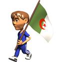 Cute 3D Algeria Flag