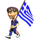 3D Greece T-shirts