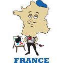 Cartoon France T-shirt