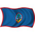 Wavy Guam Flag