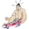 Skateboarding Sumo Wrestler