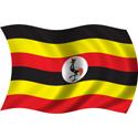 Wavy Uganda Flag