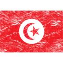 Vintage Tunisia Flag