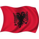Wavy Albania Flag