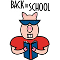 Back To School Pig