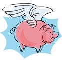 Cute Flying Pig