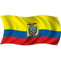 Wavy Ecuador Flag