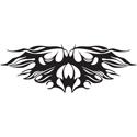Abstract Bat Tattoo
