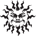 Tribal Sun Tattoo T-shirt