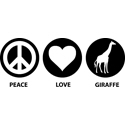Love Peace Giraffe