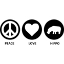 Peace Love Hippo