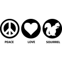 Peace Love Squirrel