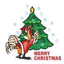 Rooster Christmas T-shirts & Gifts