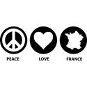 Peace Love France
