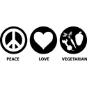 Peace Love Vegetarian