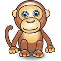 Cute 3D Monkey