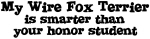Honor Student: My <strong>Wire</strong> <strong>Fox</strong> <strong>Terrier</strong>