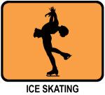 Womens Ice Skating (orange)