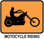 Motocycle Riding (orange)