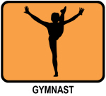Gymnast (orange)