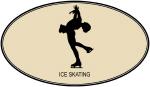 Womens Ice Skating (euro-brown)