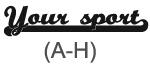 Sporty Sport (A-H)