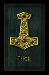 Thor's Hammer X Gold THOR Poster