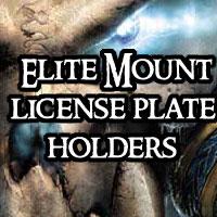 Warcraft Elite Mount License Plate Holders