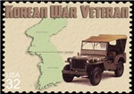 Postage Stamp-Jeep-Korea
