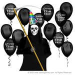 Grim Reaper over the hill birthday