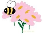 Triplet Bee on Flowers