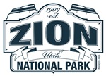 Zion National Park Blue Sign