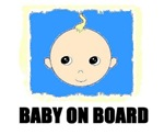 BABY ON BOARD -NO ARROWS (BLUE)