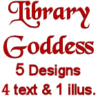 By Request<br>5 Library Goddess Designs