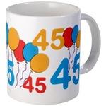 Colorful, Festive Birthday Mugs