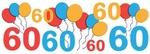 Colorful Festive 60th Birthday