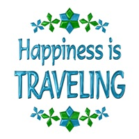 <b>HAPPINESS IS TRAVELING</b>